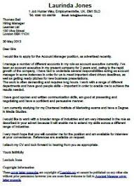 account manager cover letter example learnist org