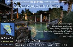 Electric Landscape Lights Dallas Landscape Lighting Ads Outdoor Light Installation Services