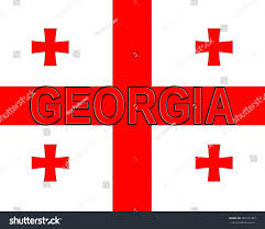 Country Flag Images Illustration National Flag Georgia Country Written Stock