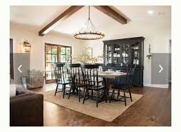black dining table and hutch fixer upper dining room black wood staged dining room