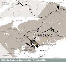Nova Scotia Canada Map by Mic Mac Mall Shopping Centre In Dartmouth Canada