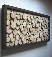 rustic wood slice sculpture or headboard 24x62 made to