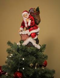 santa in chimney unique tree topper summit arbor tree toppers