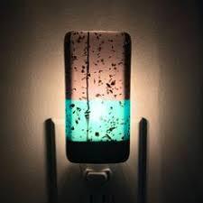 night light green and amber kitchen or bathroom night light