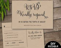 wedding rsvp rustic rsvp wedding response card and recipe cards wedding