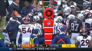 Raiders American Flag Broncos Vs Raiders Fight Crabtree Vs Talib Hd Youtube