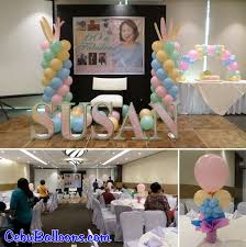 60 letters for 60th birthday balloon decoration with tarp and letters standee for susan s 60th
