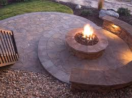 Making A Paver Patio by 15 Building A Fire Pit On Concrete Patio How To Build A Firepit