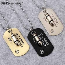army jewelry wholesale price hip hop stainless steel jewelry u s army style