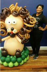 deliver balloons nyc lion jungle theme baby shower birthday balloon sculptures nyc