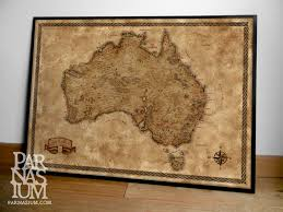 Old World Map Poster by Fantasy Map Of Australia Wall Decor Fantasy Gift Fantasy Map