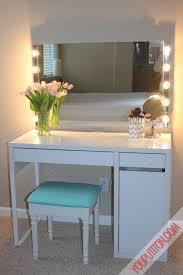 Ikea Diy by Hollywood Mirror Ikea Diy Hollywood Vanity Mirror Ikea Micke Desk