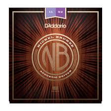 d addario strings nickel bronze wound nb1152 nickel bronze