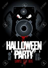 halloween party design template with wicked bloody speaker and