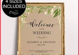 wedding welcome sign template welcome to our wedding template 266680 calligraphy heart gold wel