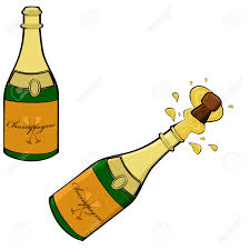 cartoon alcohol jug cartoon illustration showing two champagne bottles one closed