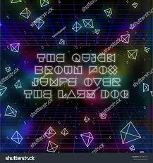 80s design abstract retro 80s background with geometric shapes