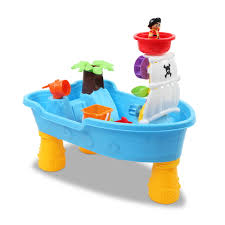 kids sand and water table play set pirate ship