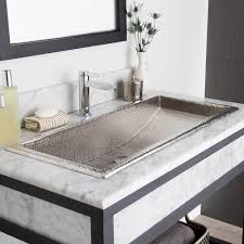 long bathroom sink with two faucets undermount trough bathroom sink with two faucets best bathroom