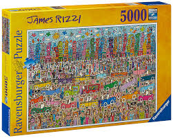 ravensburger james rizzi puzzle 5000 pieces amazon co uk toys