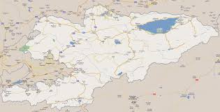 World Map With Cities by Large Road Map Of Kyrgyzstan With Cities Kyrgyzstan Asia
