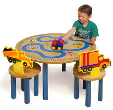 round children activity table with transportation chairs for boys