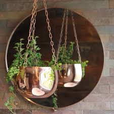 small copper hanging planter the third row
