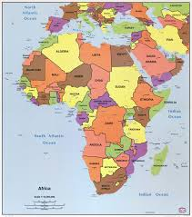 South America Map With Capitals by Large Detailed Political Map Of Africa With All Capitals U2013 1996