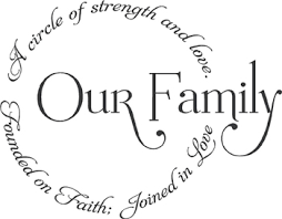 our family circle wall decal word design adhesive vinyl and