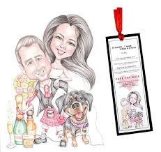 wedding stationery aberdeenshire silver wedding anniversary caricature gift outdoor uk picky