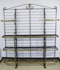 Large Bakers Rack A French Wrought Metal And Brass Bakers Rack Base Marked Pe