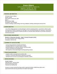 modern resume format 2015 exles sle resume format for fresh graduates two page format 1 1