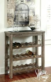 sofa table with wine rack diy console table wine rack kyubey