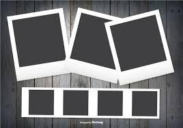 polaroid frames on dark wood background download free vector art