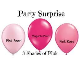 pink balloons ombre 3 shades of pink party baby shower bridal