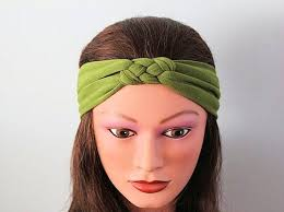 knot headband green knotted jersey headband t shirt headband sailor s knot
