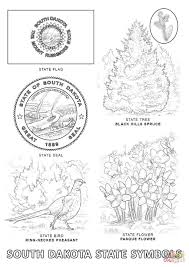 south dakota state symbols coloring page free printable coloring