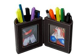 Desk Pencil Holder Desk Organizer Pen And Pencil Holder With Picture Frame By