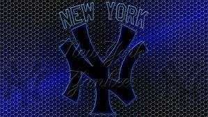 wallpapers by wicked shadows new york yankees logo grid wallpaper