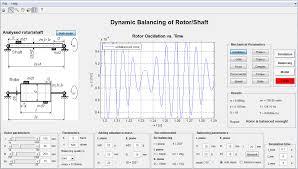 analysis of balancing of unbalanced rotors and long shafts using