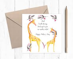 s day giraffe s day card giraffe card step