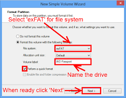 format hard drive exfat on mac how to format a wd hard drive to exfat or fat32 file system wd support