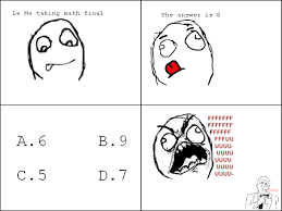 Le Me Memes - le me taking math final funny comic image