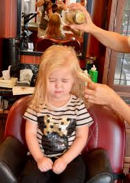 the journey of parenthood tess u0027s first haircut harmony barber