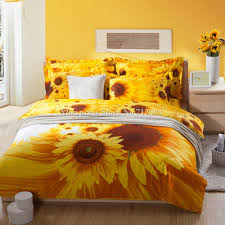 Red And Yellow Duvet Covers Selling Yellow Sunflower Printed Cotton Bedding Sets Duvet