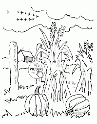 autumn coloring page farm and autumn coloring pages for kids