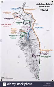 Utah State Map Map Of Antelope Island State Park Utah Usa Stock Photo Royalty
