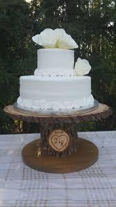 rustic cake stand wood cupcake stand personalized cake stand log cake stand tree