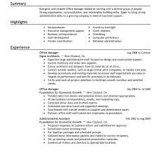 bright ideas office manager resume sample 2 best office manager