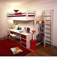 lit surélevé avec bureau lit mezzanine avec bureau et armoire integres lit mezzanine